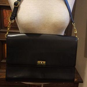 JCrew leather messenger bag